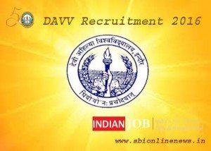 DAVV Recruitment 2016