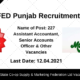 MARKFED Punjab Recruitment 2021