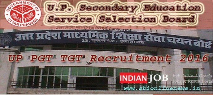 UP PGT TGT Recruitment 2016