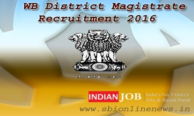 WB District Magistrate Recruitment 2016