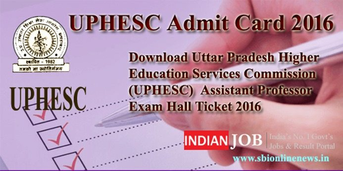 UPHESC Admit Card 2016