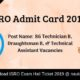 ISRO Admit Card