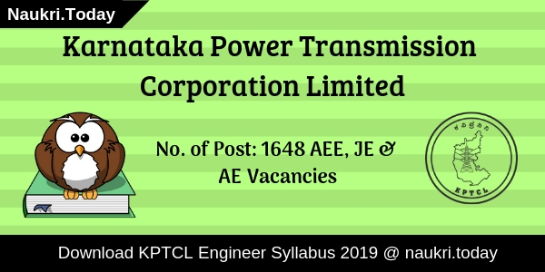 KPTCL Engineer Syllabus