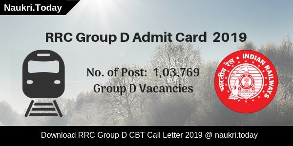 RRC Group D Admit Card