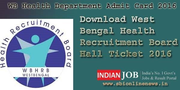 WB Health Department Admit Card 2016 copy