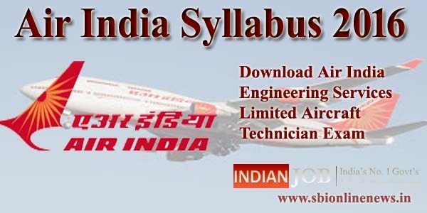 Air India Syllabus 2016