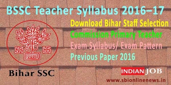 BSSC Teacher Syllabus 2016