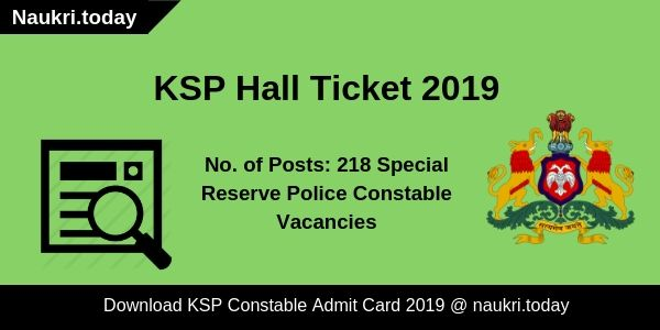 KSP Hall Ticket