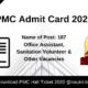 PMC Admit Card 2020