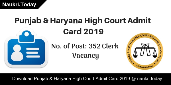 Punjab & Haryana High Court Admit Card