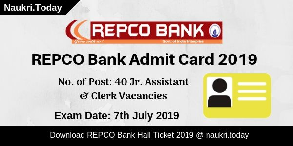 REPCO Bank Admit Card