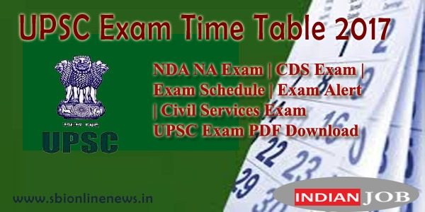 UPSC Exam Time Table 2017 copy