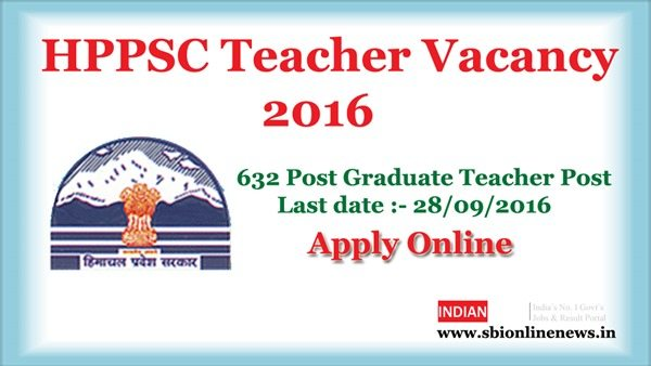 HPPSC Teacher Vacancy 2016