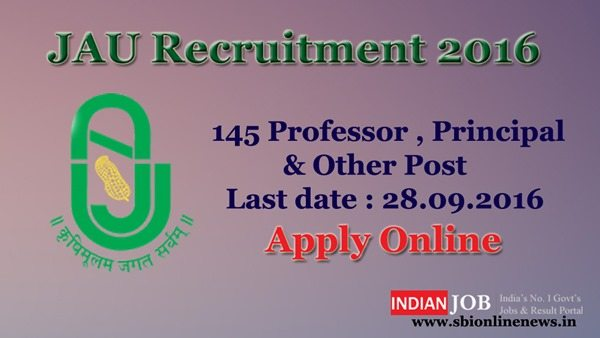 JAU Recruitment 2016