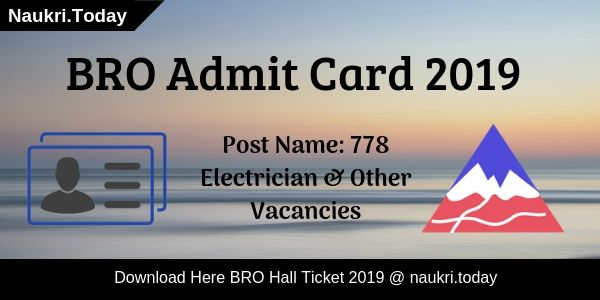 BRO Admit Card
