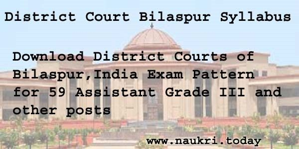 District Court Bilaspur Syllabus 2016
