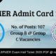 JIPMER Admit Card 2020