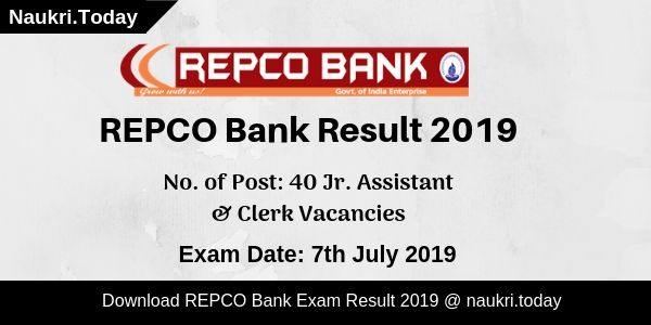 REPCO Bank Result