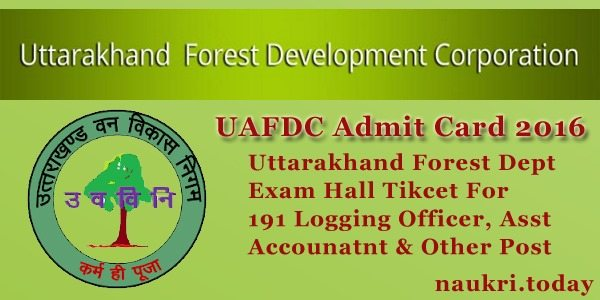 UAFDC Admit Card 2016