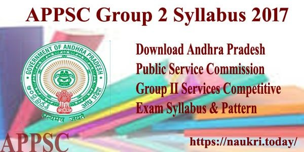 APPSC Group 2 Syllabus 2017