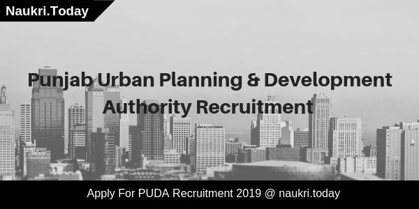 PUDA Recruitment