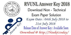 RVUNL Answer Key