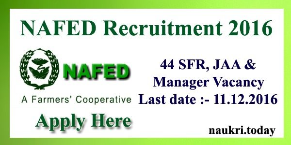 NAFED Recruitment 2016