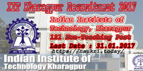 IIT Kharagpur Recruitment 2017