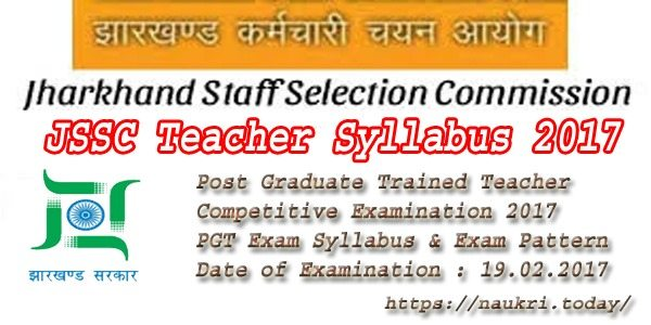 JSSC Teacher Syllabus 2017