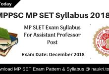 MP SET Syllabus