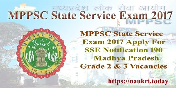 MPPSC State Service Exam 2017