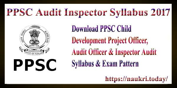 PPSC Audit Inspector Syllabus 2017