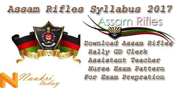 Assam Rifles Syllabus 2017