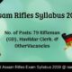 Assam Rifles Syllabus