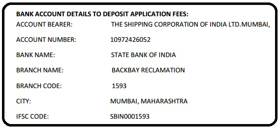SCI TEO Jobs Fee Submission Details