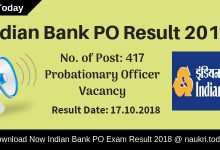 Have you participate in Indian Bank Probationary Officer Prelims Exam 2018??? If yes, then you also waiting for Indian Bank PO Result 2018 for Prelims Exam. You visit a right place, here you get all information regarding Indian Bank PO Exam Result 2018. The department has conducted Probationary Officer Preliminary examination on 06th October 2018. After that, the bank will conduct main examination according to how many candidates are qualified the Prelims examination? You can collect your Indian Bank PO Prelims Result on 17th October 2018 (Tentative date). Candidates can download their scorecard using registration no. and password information. Rest of information you can collect on below paragraphs. Indian Bank will announce Probationary Officer Prelims Exam Result 2018. Those candidates have participated in the examination are eagerly waiting to download Indian Bank PO 2018 Result. Applicants those are qualified preliminary examination can participate in the mains examination. Indian Bank PO Main Exam 2018 will going to held on 04.11.2018. Furthermore, such as how to collect Indian Bank Probationary Officer Result? & other you may require to read full article properly. What is the Summary of Indian Bank PO Result 2018? Indian Bank Probationary Officer Prelims Result Name of Bank: Indian BankAvailable no. of posts: 417 VacanciesName of Post: Probationary OfficerExam Name: Indian Bank PO Exam 2018Category: Indian Bank PO Exam ResultDate of Preliminary Examination: 06th October 2018Main Examination Date: 24.10.2018Declaration of Indian Bank PO Prelims Result 2018: 17th October 2018Mains Exam of Probationary Officer held on: 04th November 2018Status of Indian Bank PO Result 2018: Available SoonOfficial website: indianbank.in Highlights of Indian Bank Probationary Officer Exam 2018 The Indian Bank had issued notification for filling up 417 vacancies of Probationary Officer. The release date of notification is 01.08.2018. Indian Bank PO Jobs online application form is av