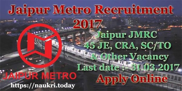 Jaipur Metro Recruitment 2017