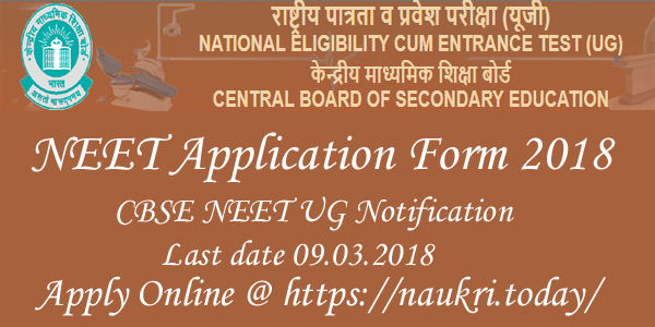 NEET Application Form 2018