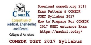 COMEDK UGET 2017 Syllabus & comedk.org 2017 Exam Pattern | How to Prepare For COMEDK 2017 UGET entrance Exam