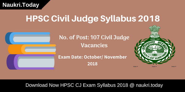 HPSC Civil Judge Syllabus