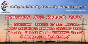 MPMKVVCL ARO Result 2017 | Result of ARO Bhopal, MPCZ Assistant Revenue Officer Exam Result, Cutoff Marks