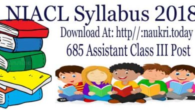 NIACL Assistant Syllabus
