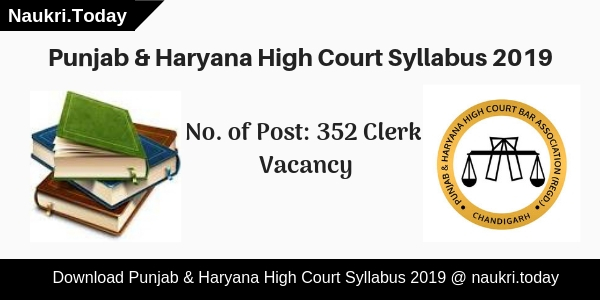 Punjab & Haryana High Court Syllabus