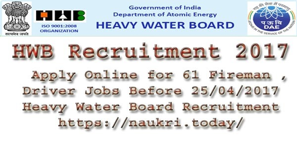 HWB Recruitment 2017