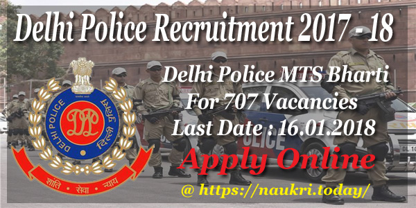 Delhi Police Recruitment 2017 – 18