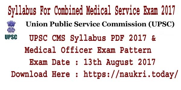 Syllabus For Combined Medical Service Exam 2017