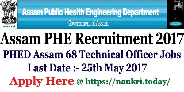 Assam PHE Recruitment 2017