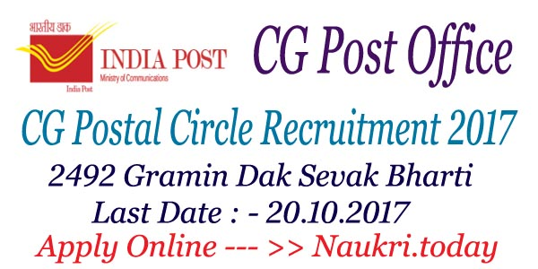 CG Post Office Recruitment 2017
