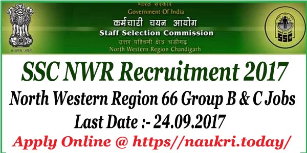 SSC NWR Recruitment 2017