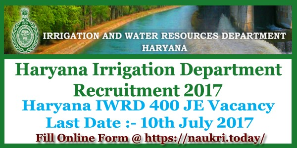 Haryana Irrigation Department Recruitment 2017
